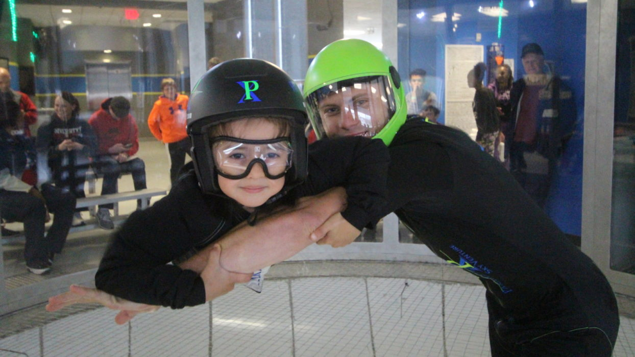 Children Of The Fallen Earn Their Wings At Indoor Skydiving Event